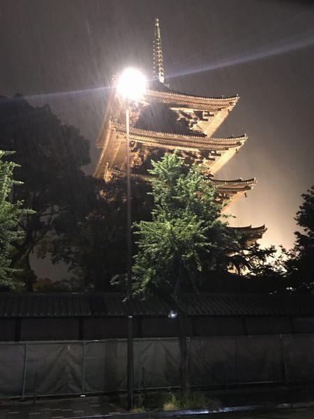 8・15台風の東寺